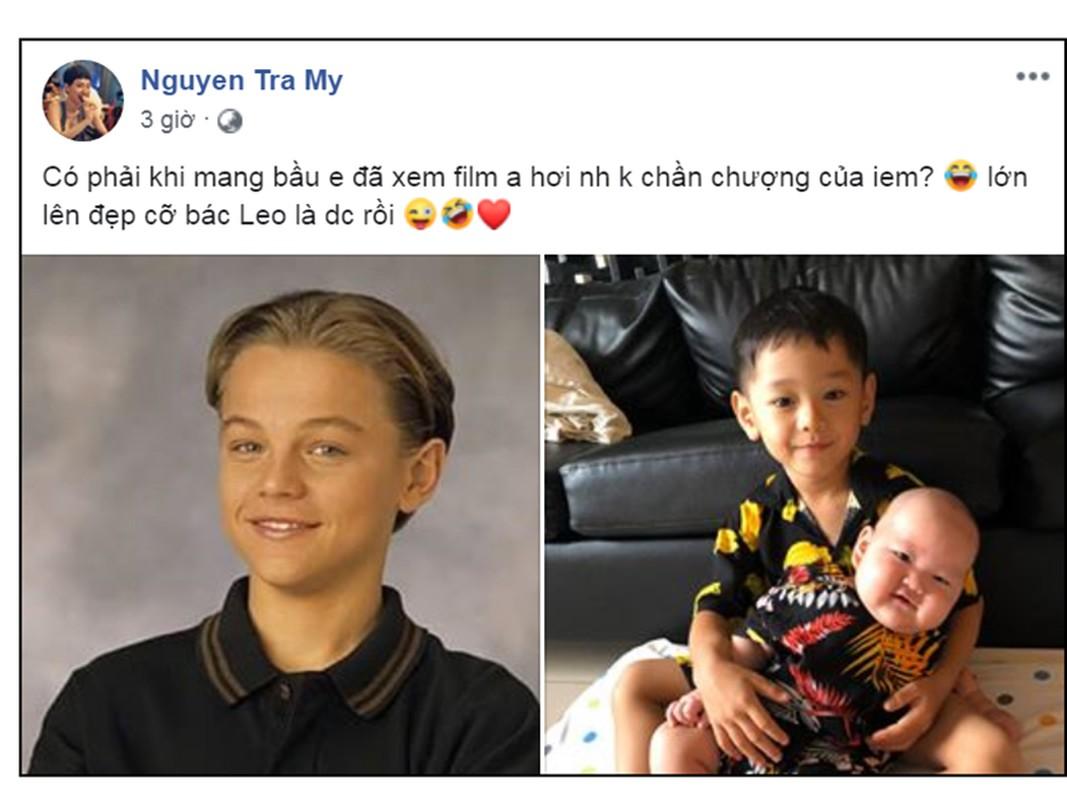 Ve dang yeu cua con trai Tra My giong tai tu Leonardo DiCaprio