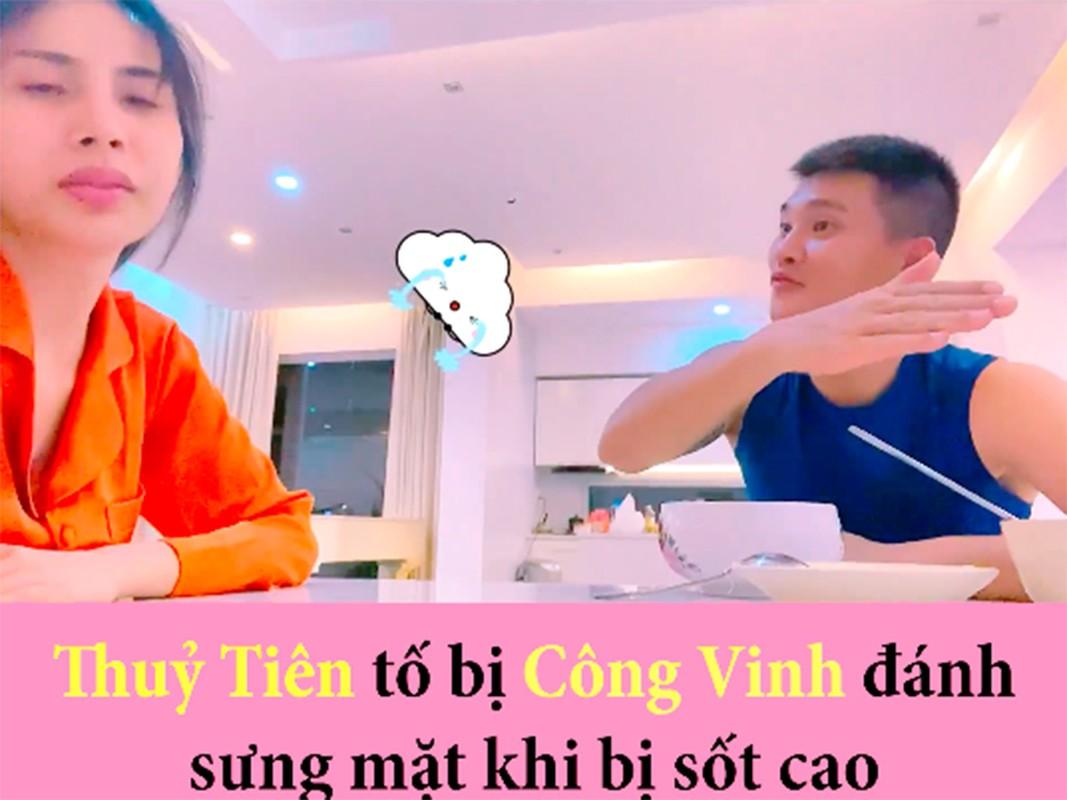 Cong Vinh - Thuy Tien: Cap vo chong troll nhau ba dao nhat showbiz Viet-Hinh-4