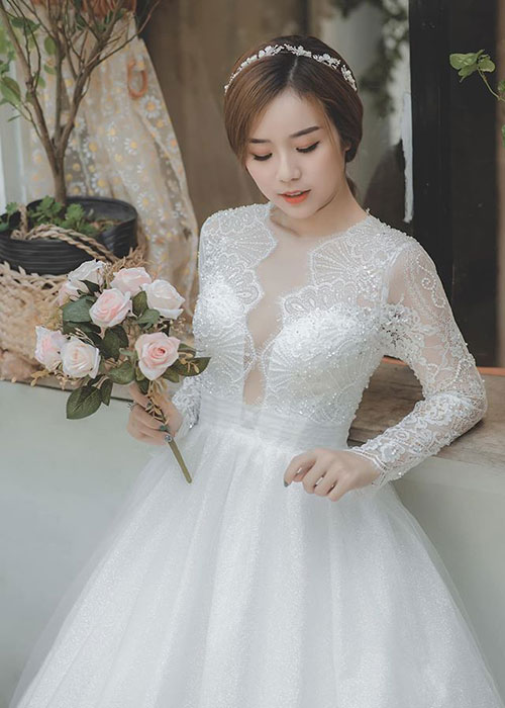 Bao Ngoc mac vay cuoi hoan thanh uoc mo hau ly hon Hoai Lam-Hinh-2