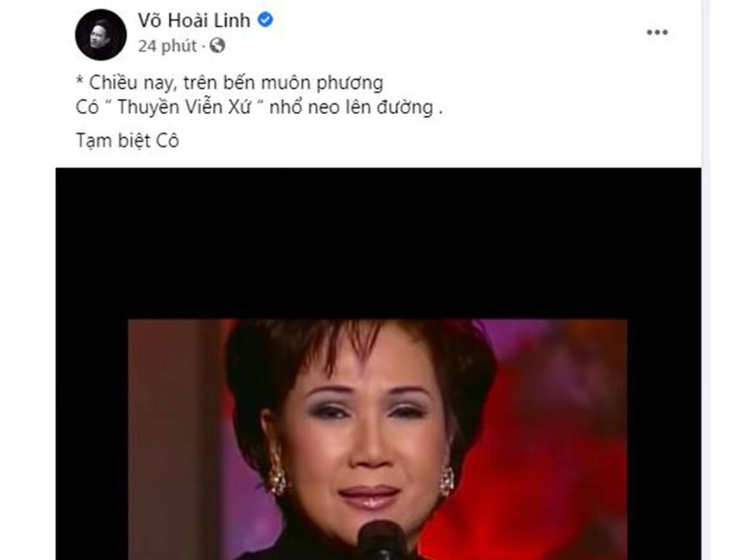 Hoai Linh, Dam Vinh Hung tiec thuong danh ca Le Thu