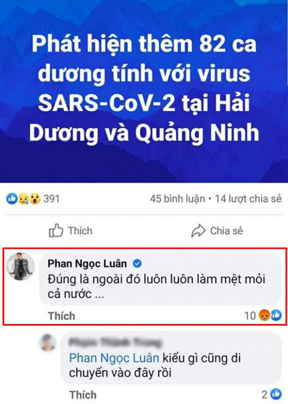 "Phan Ngoc Luan: Het ""phan thay"" den va mieng giua dich COVID-19"