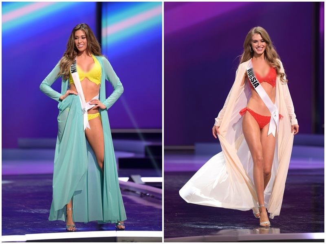 Thi sinh Miss Universe dien bikini khoe than hinh boc lua o ban ket-Hinh-2