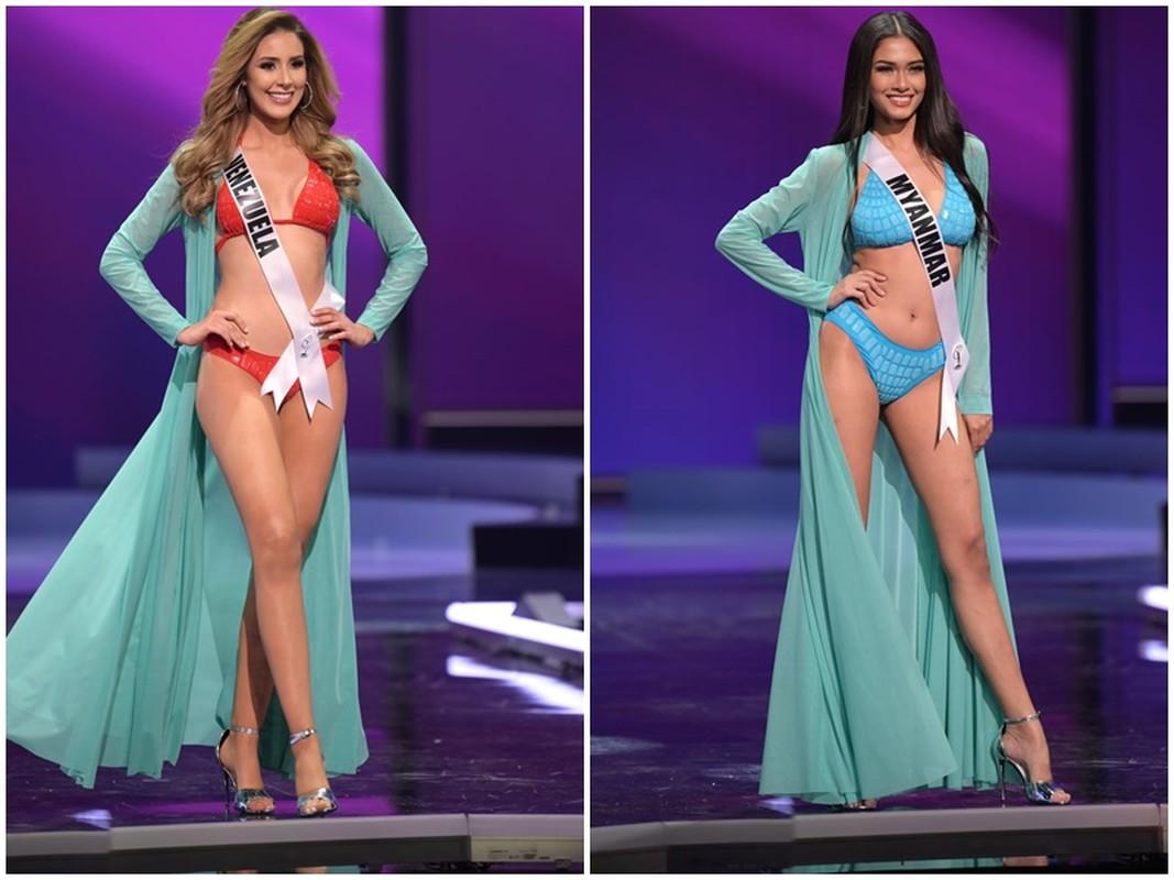 Thi sinh Miss Universe dien bikini khoe than hinh boc lua o ban ket-Hinh-5
