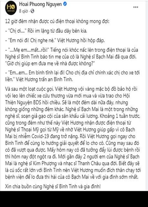 Viet Huong nua dem den benh vien lo hau su nghe si Bach Mai-Hinh-2