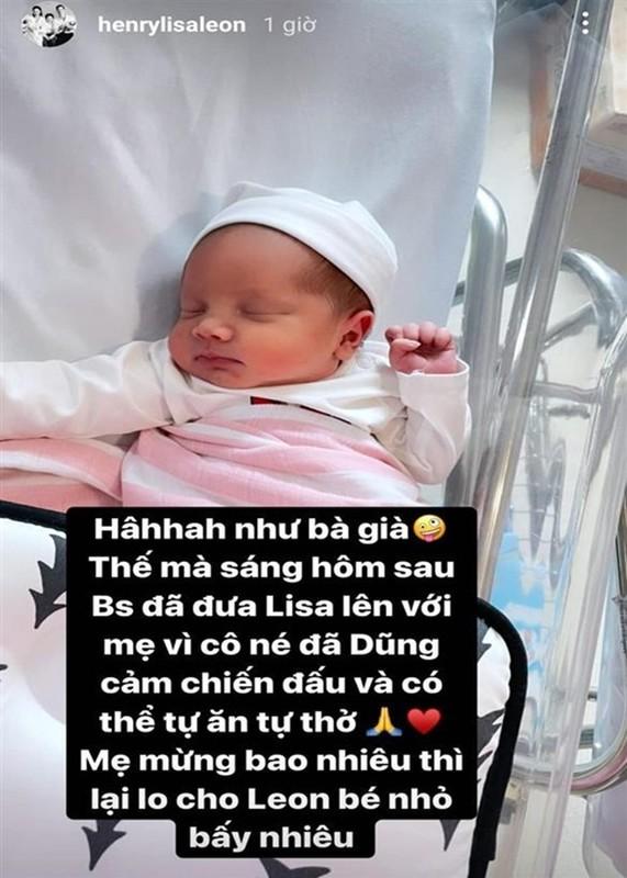 Ho Ngoc Ha ke chuyen sinh non, be Lisa phai dung ong tho-Hinh-3