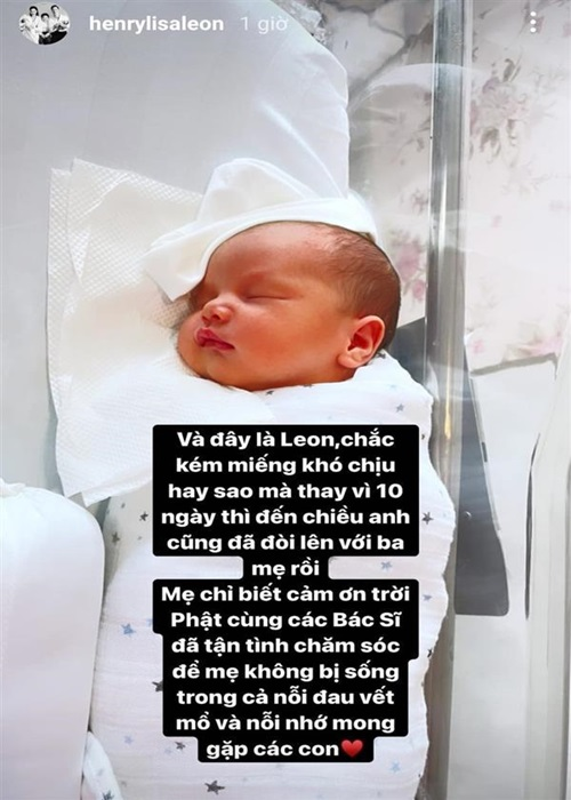 Ho Ngoc Ha ke chuyen sinh non, be Lisa phai dung ong tho-Hinh-4