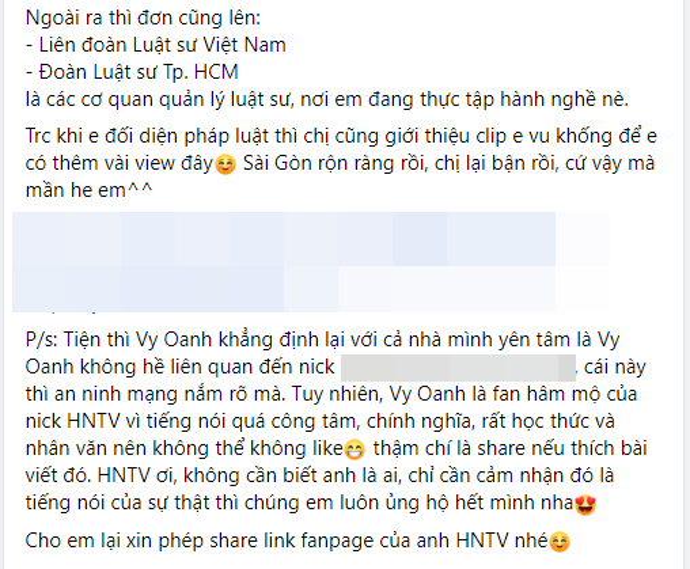 Vy Oanh reo ten Nham Hoang Khang de canh cao mot Youtuber-Hinh-3