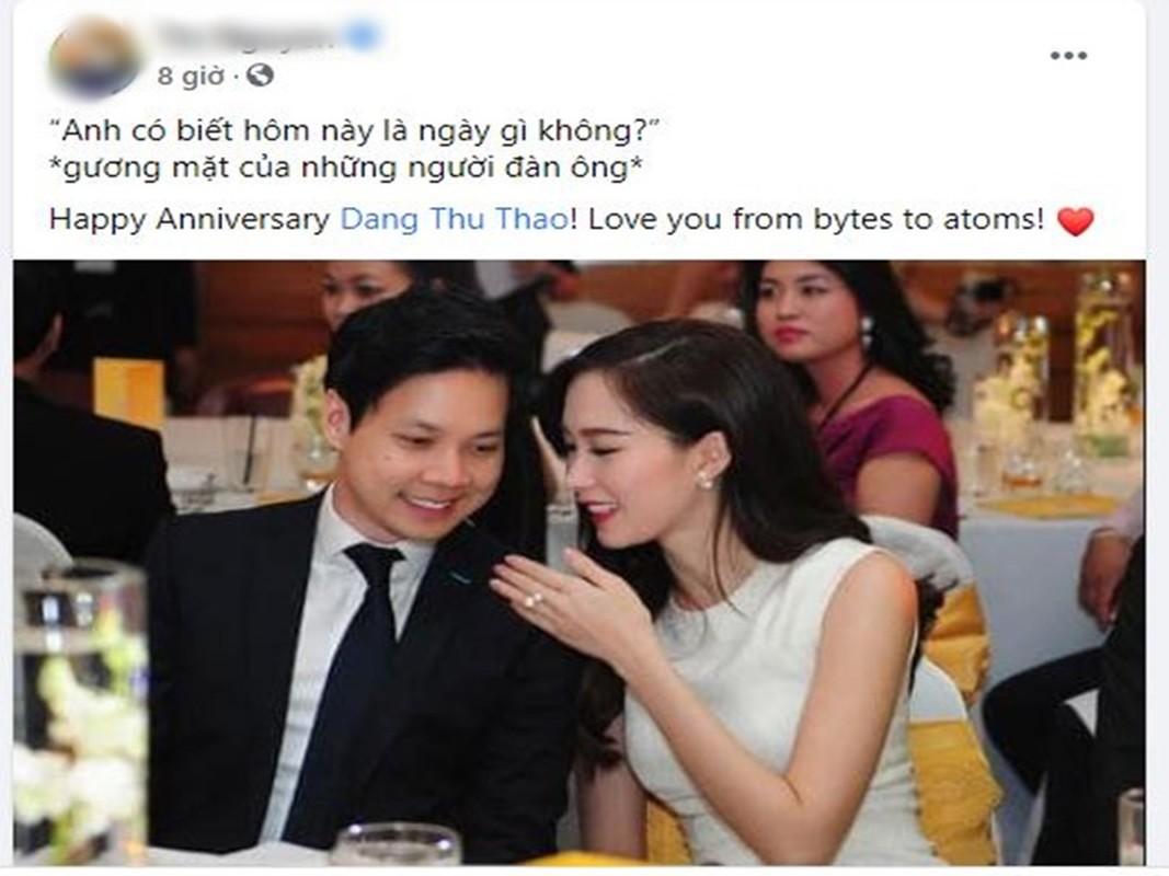 Chong HH Dang Thu Thao noi loi mat ngot ky niem 4 nam cuoi