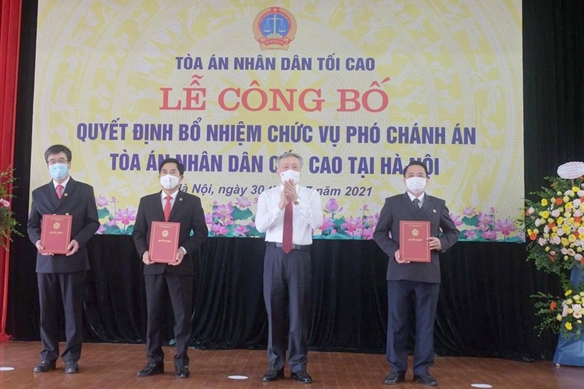 Chan dung 3 tan Pho Chanh an TAND Cap cao tai Ha Noi