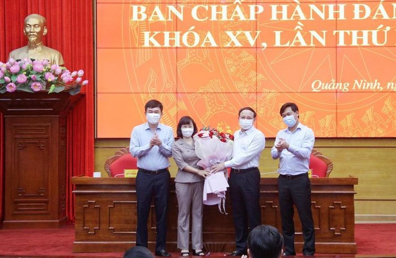 Ba Trinh Thi Minh Thanh lam Pho Bi thu Tinh uy Quang Ninh