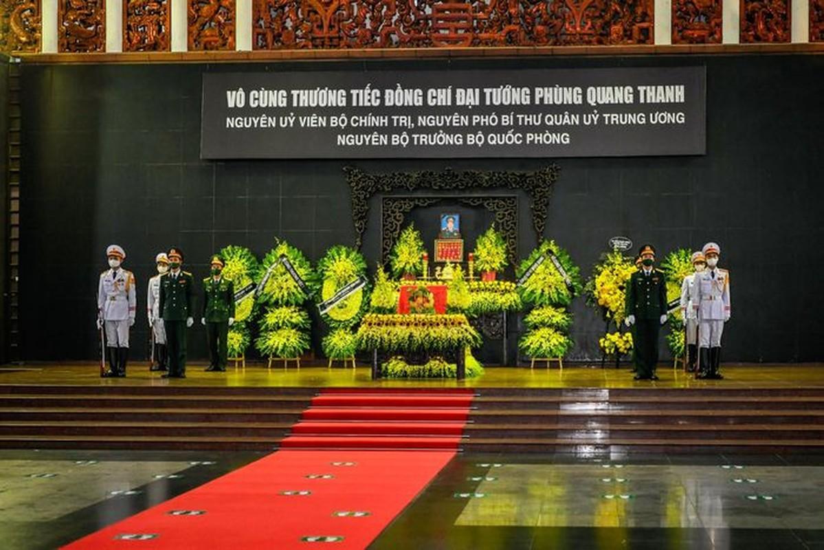 Toan canh le vieng, le truy dieu Dai tuong Phung Quang Thanh