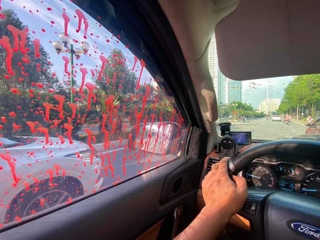 Hang loat xe o to bi tat son o Ha Noi: Cong an vao cuoc-Hinh-3