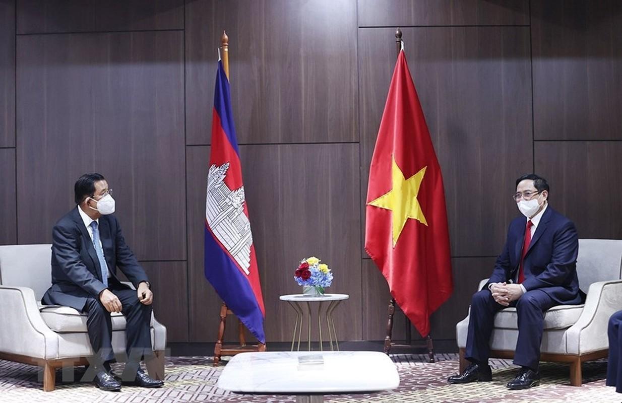 Thu tuong Pham Minh Chinh hoi kien Thu tuong Campuchia Hun Sen-Hinh-2