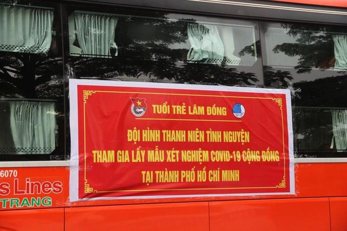CSGT ho tong 218 tinh nguyen vien Lam Dong vao TP.HCM chong dich-Hinh-9