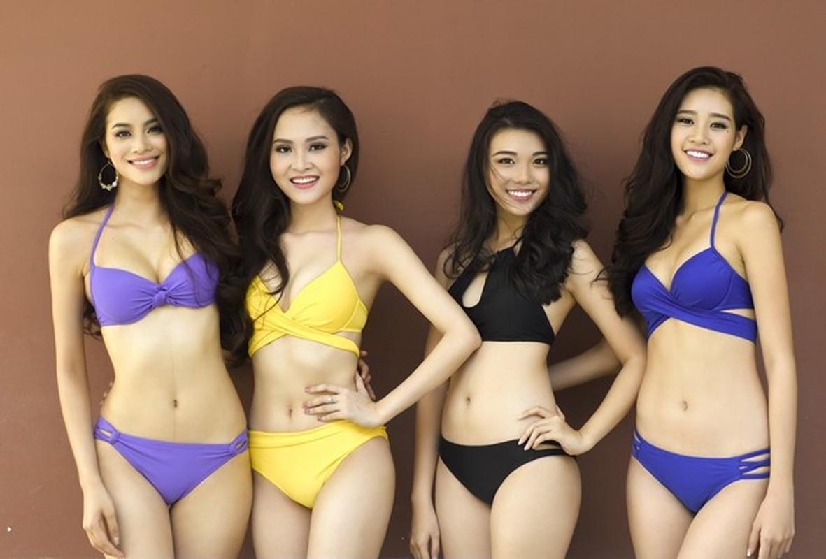 Thi sinh Hoa hau Hoan vu Viet Nam khoe dang voi bikini-Hinh-2