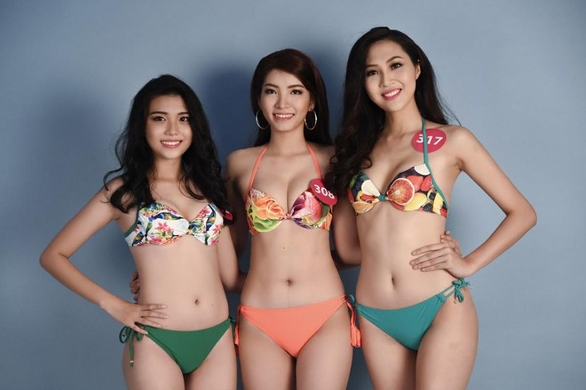 Thi sinh Hoa hau Hoan vu Viet Nam khoe dang voi bikini-Hinh-4