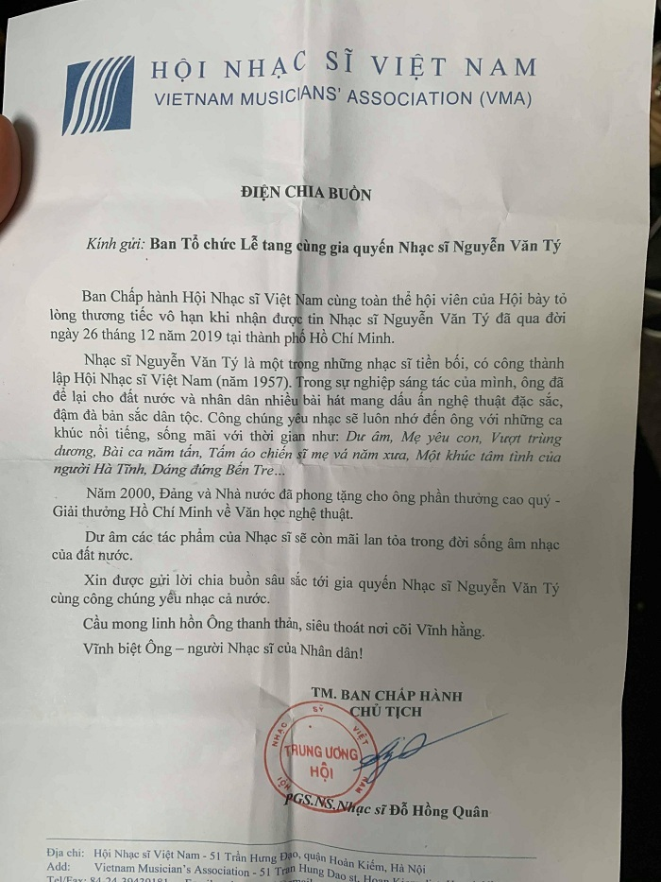 Nhac si Nguyen Van Ty ve dat me trong tieng nhac