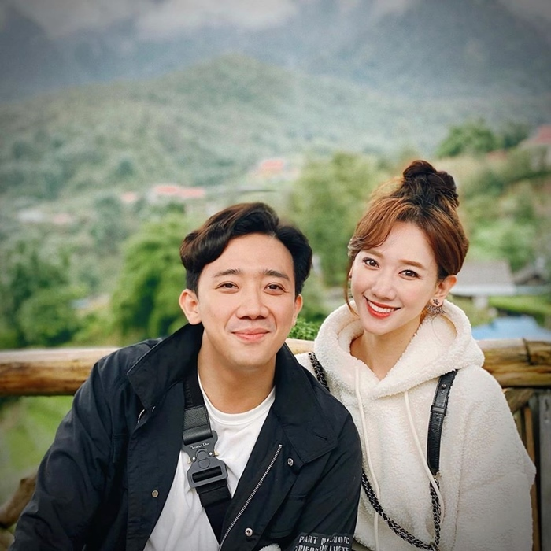 Tran Thanh - Hari Won chup anh tinh tu tai Sa Pa
