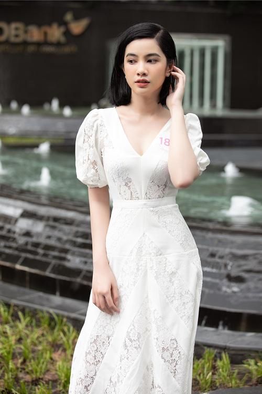 Nhan sac xinh dep dan thi sinh lot Ban ket Hoa hau Viet Nam 2020-Hinh-5