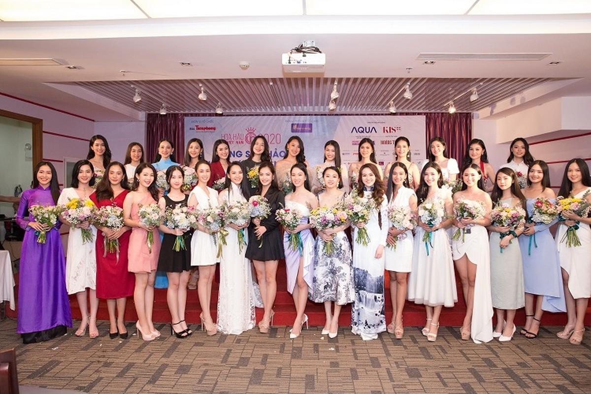 Nhan sac xinh dep dan thi sinh lot Ban ket Hoa hau Viet Nam 2020