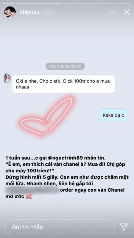 Than chua lau, Ngoc Trinh chuyen cho Chi Pu 100 trieu mua chiec van-Hinh-3