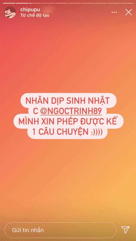 Than chua lau, Ngoc Trinh chuyen cho Chi Pu 100 trieu mua chiec van