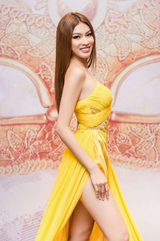 A hau Ngoc Thao khoe chan dai 1m1 voi vay xe cao thot tim-Hinh-2