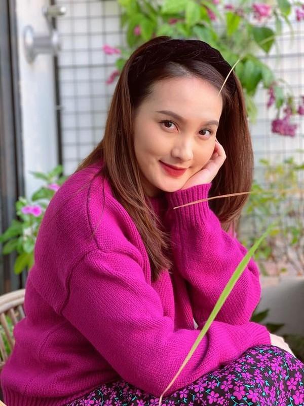 Nhan sac xinh dep cua dien vien Bao Thanh khi mang bau lan 2-Hinh-12