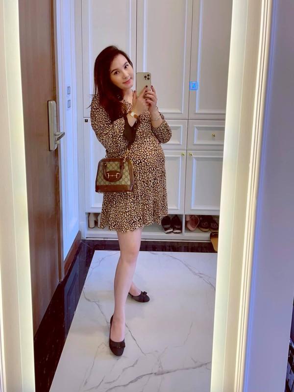 Nhan sac xinh dep cua dien vien Bao Thanh khi mang bau lan 2