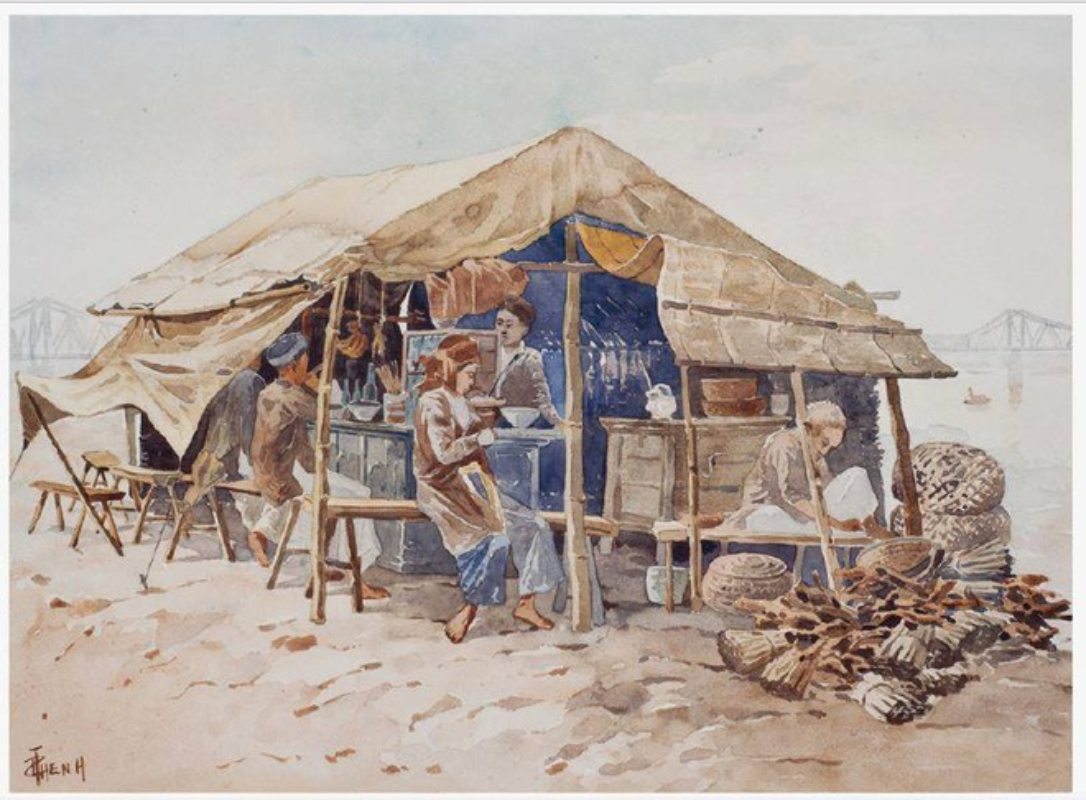 Bo tranh hiem ve canh sinh hoat o mien Bac Viet Nam xua-Hinh-2