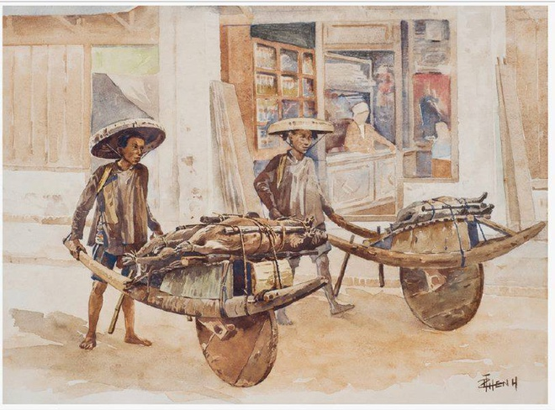 Bo tranh hiem ve canh sinh hoat o mien Bac Viet Nam xua-Hinh-3