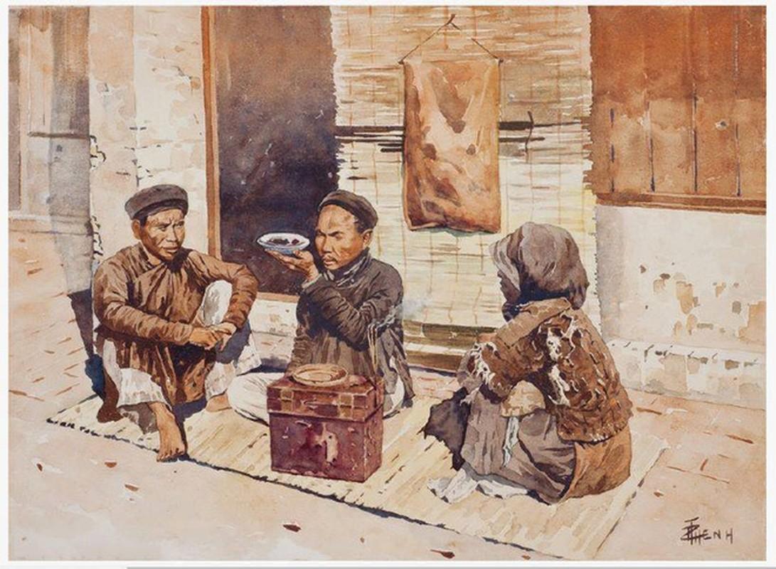 Bo tranh hiem ve canh sinh hoat o mien Bac Viet Nam xua-Hinh-9