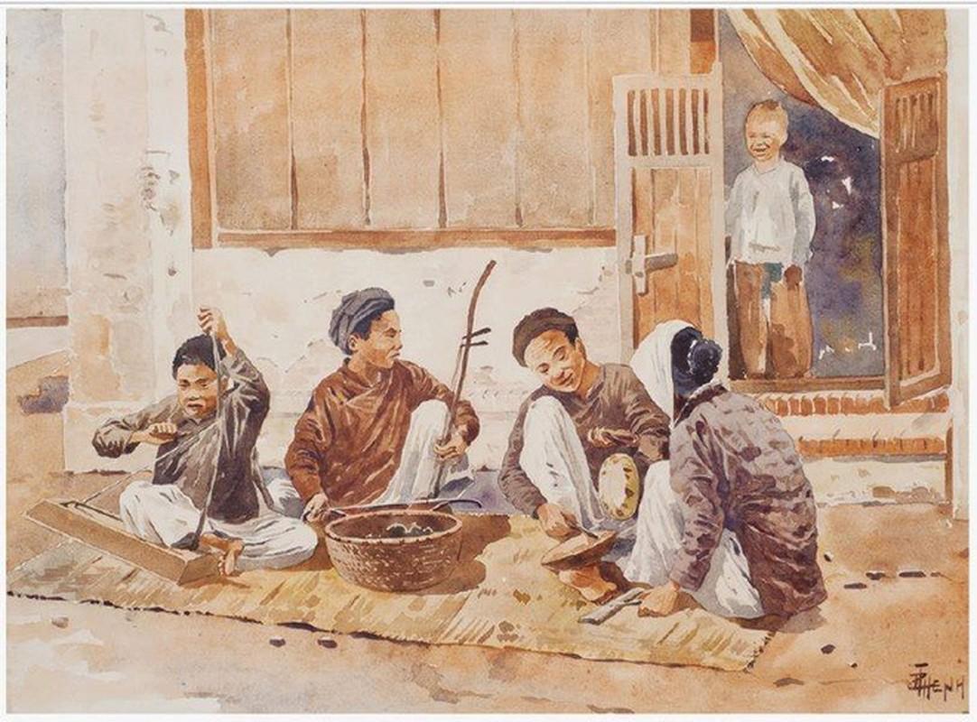 Bo tranh hiem ve canh sinh hoat o mien Bac Viet Nam xua