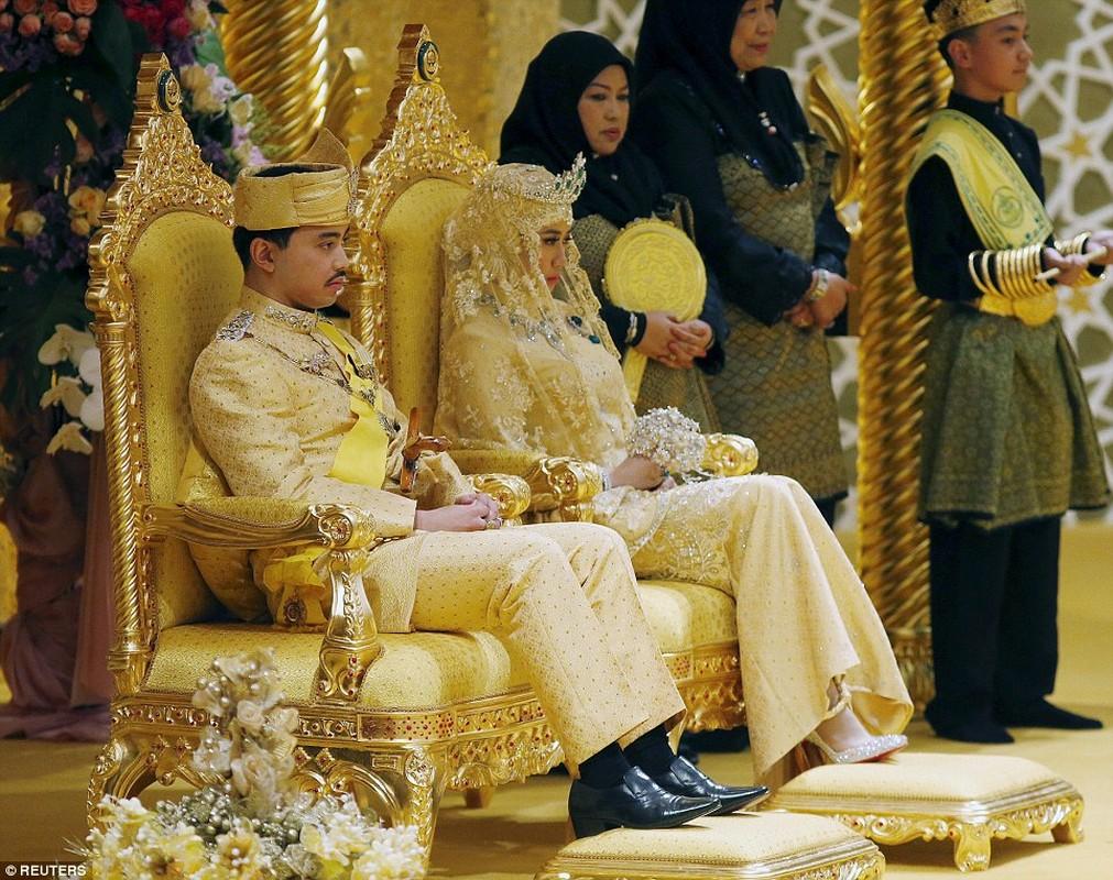 Dam cuoi toan vang, da quy cua con trai Quoc vuong Brunei-Hinh-11