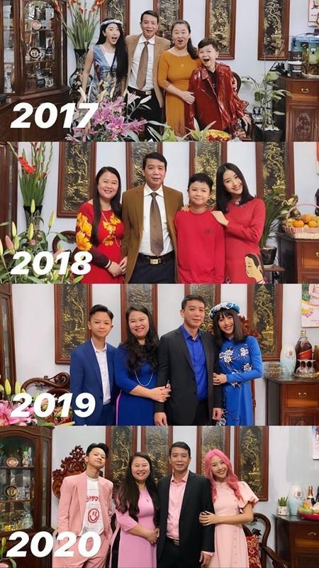 Vo chong Hai Que, 'Ngan - Ha Lan' khoe mac ao dai don Tet-Hinh-6
