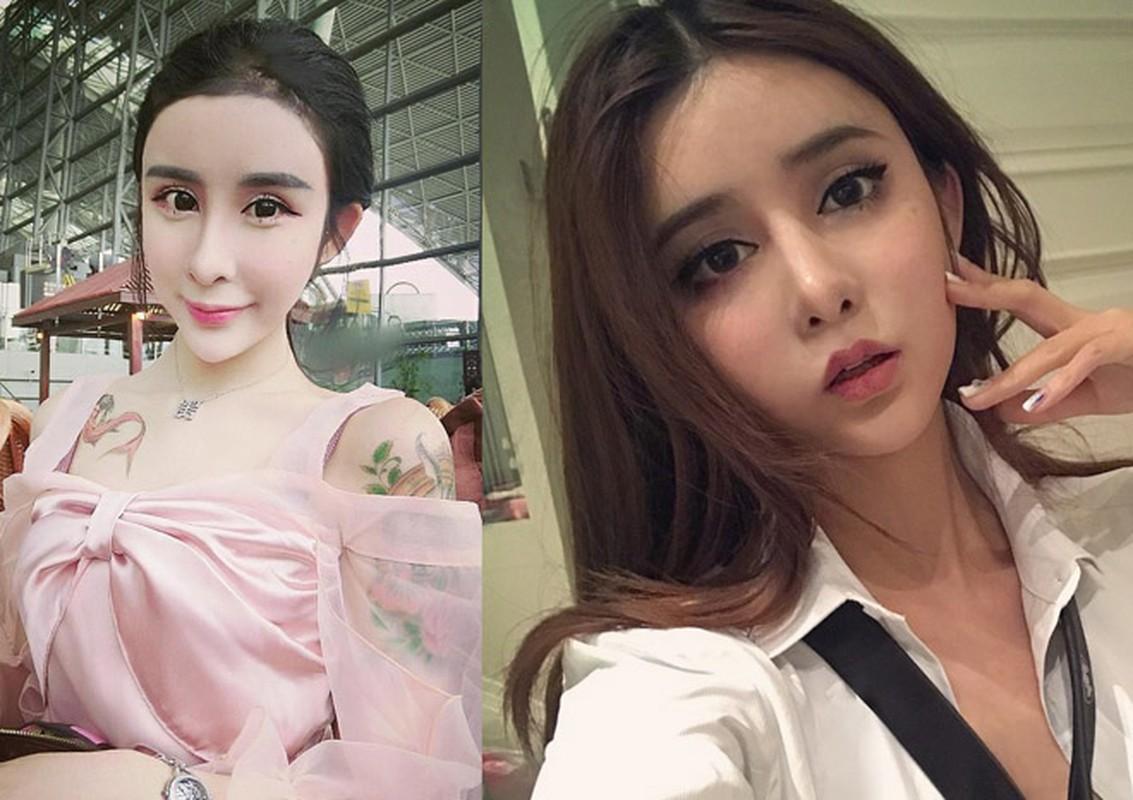 "Nhan sac bong nhien xinh dep nho tham my cua ""hot girl mat ran"" Trung Quoc"