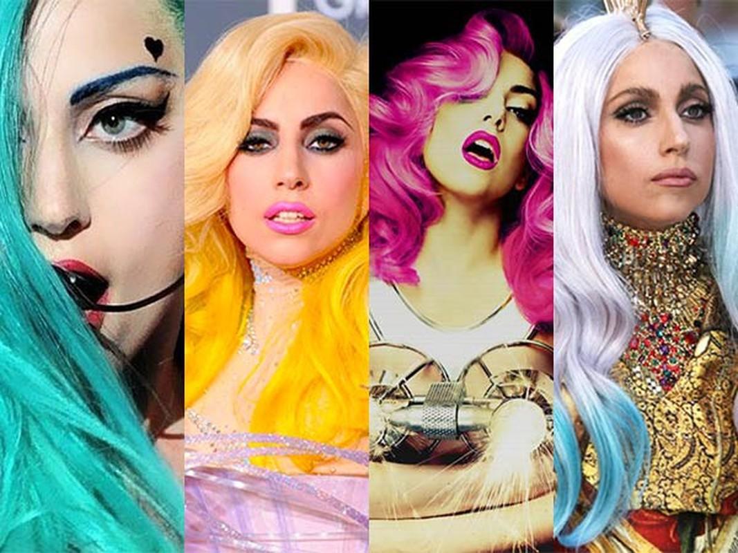 "Khan gia ""tron mat"" boi nhung mau toc nhuom noi bat cua Lady Gaga"