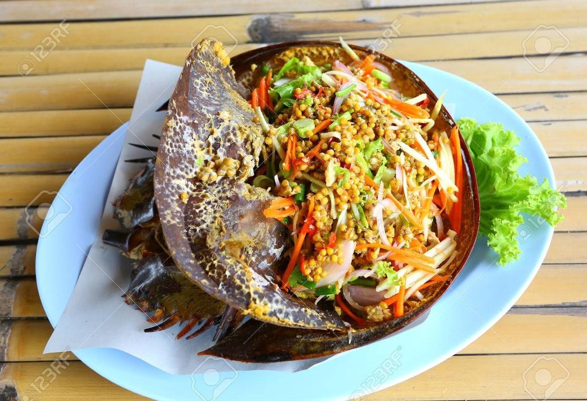 Goi trung cua mong ngua, mon an Thai ky la thach thuc nguoi an-Hinh-10