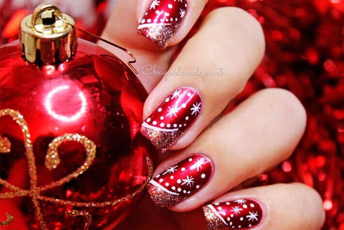 Goi y loat mau nail Noel cuc xinh cho chi em di choi-Hinh-2