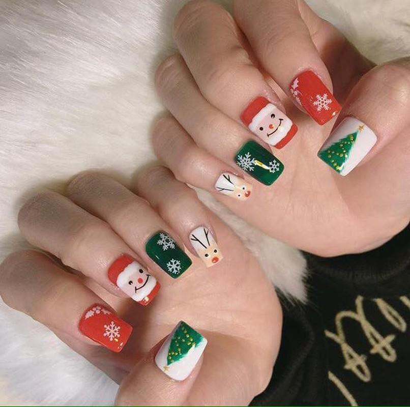 Goi y loat mau nail Noel cuc xinh cho chi em di choi-Hinh-4