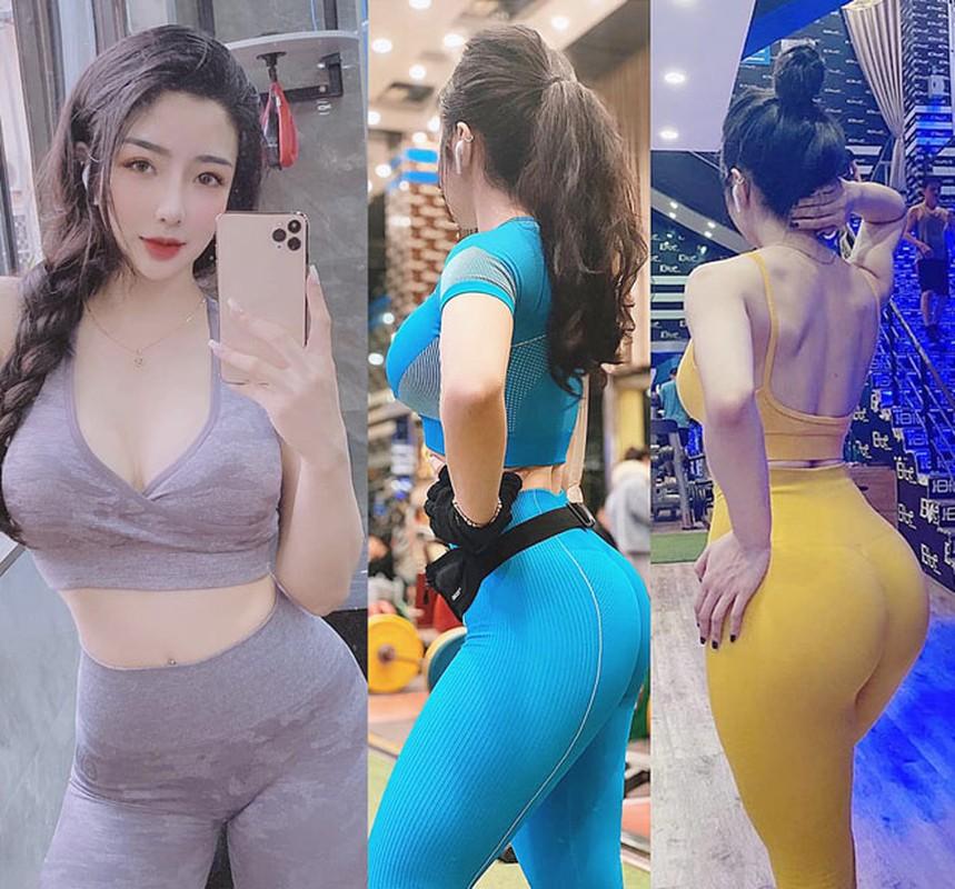 Bi kip voc dang nong bong cua hot girl phong gym vong 3 gan 100cm-Hinh-6