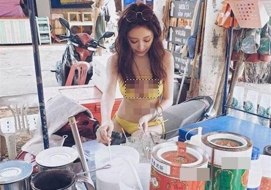 """Hang loat hot girl Thai Lan an mac ho hang de """"cau"""" khach mua hang"""