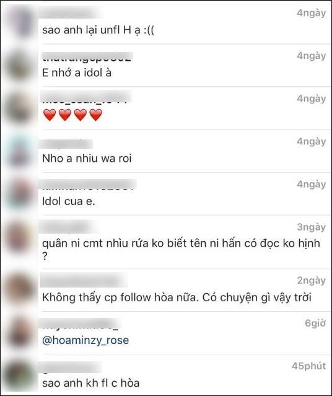 Cong Phuong bo theo doi Hoa Minzy tren Instagram-Hinh-3