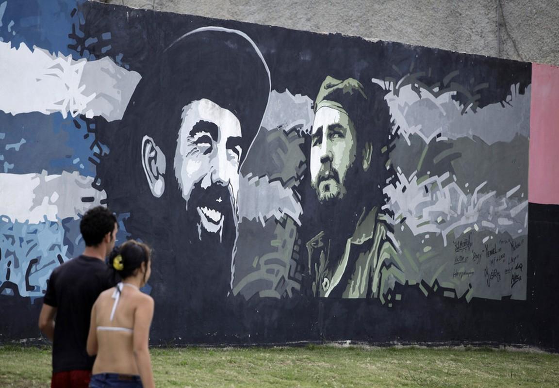 Hinh anh lanh tu Fidel Castro trong nhung buc ve graffiti-Hinh-2