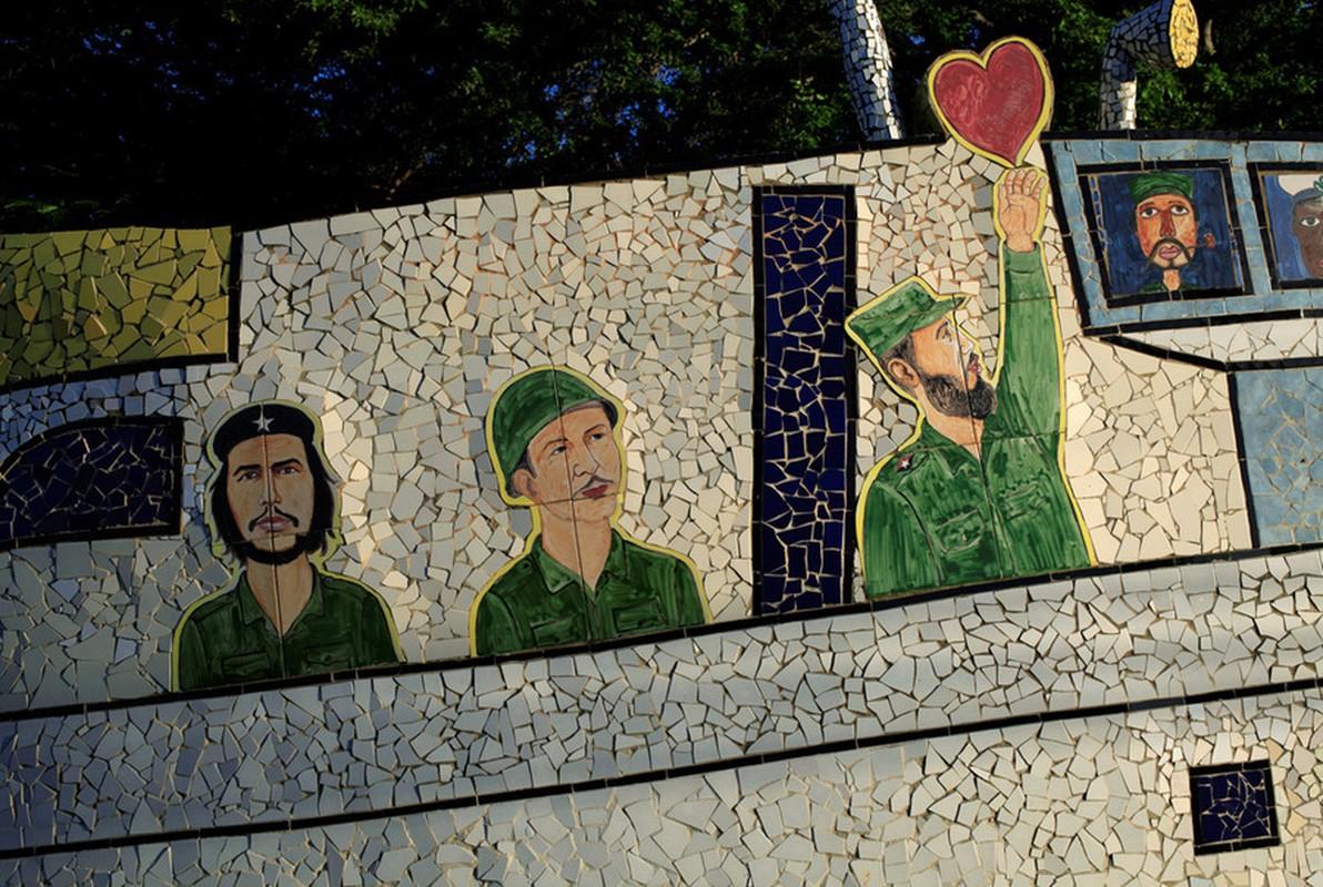 Hinh anh lanh tu Fidel Castro trong nhung buc ve graffiti-Hinh-4
