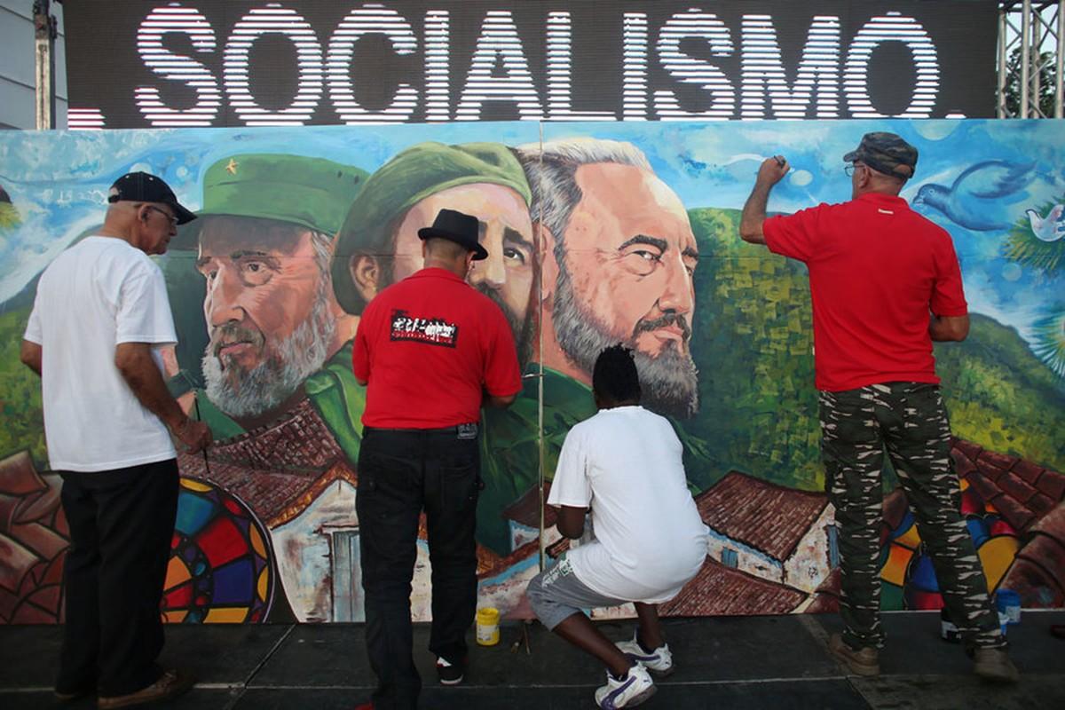 Hinh anh lanh tu Fidel Castro trong nhung buc ve graffiti-Hinh-5