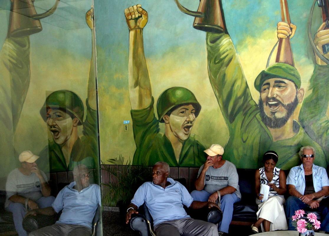 Hinh anh lanh tu Fidel Castro trong nhung buc ve graffiti