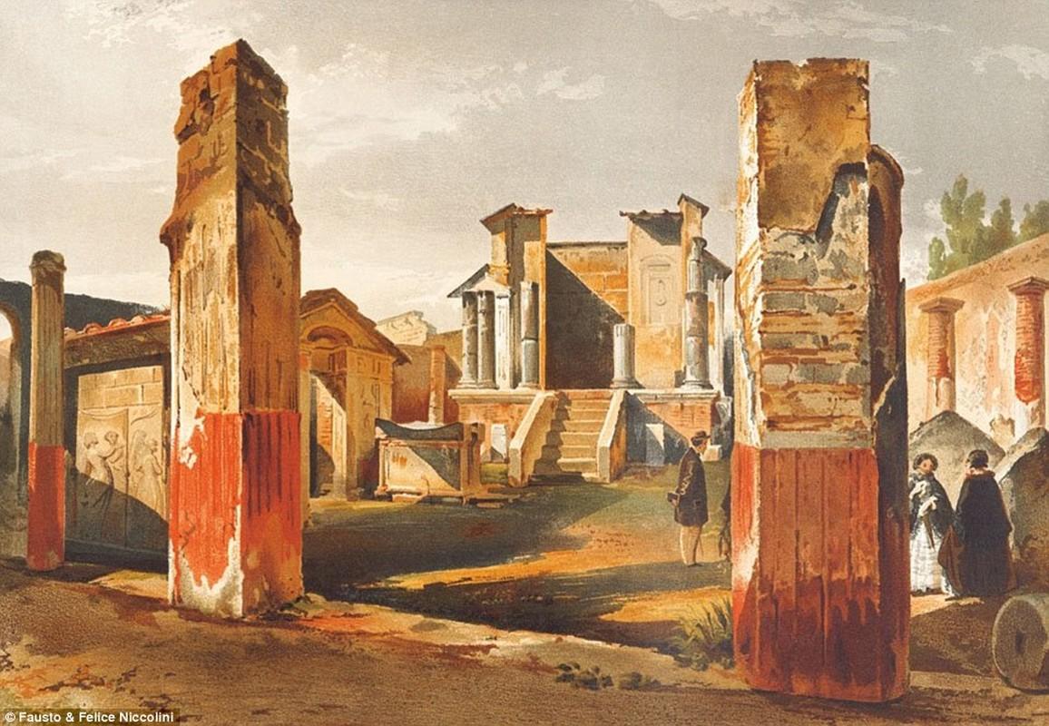 Tranh ve thanh pho Pompeii truoc khi bi nui lua chon vui-Hinh-3