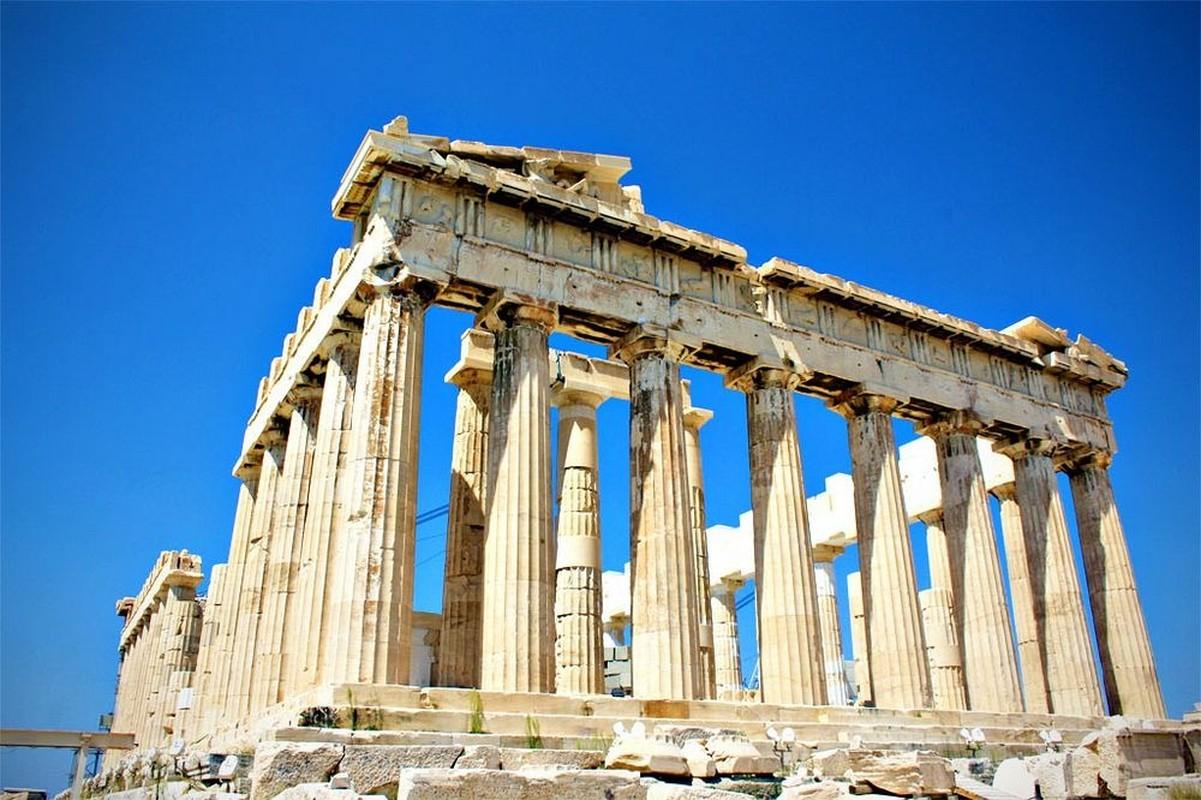Ngam kiet tac noi tieng cua dien Parthenon con sot lai