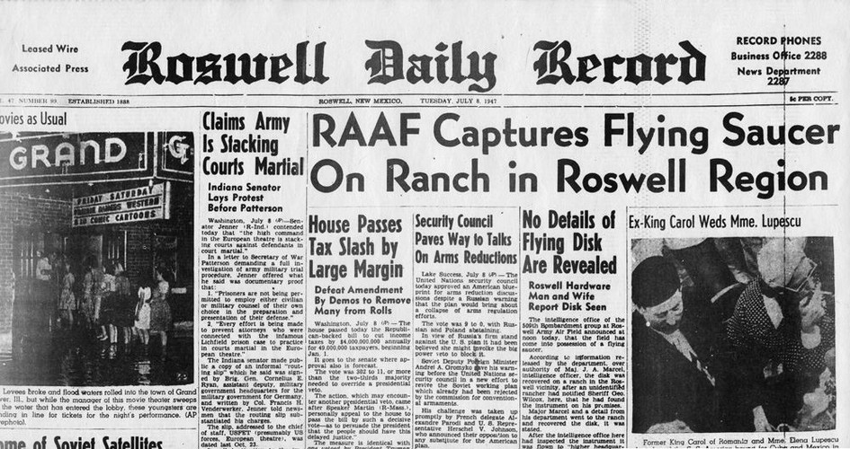 Tiet lo moi gay chan dong vu UFO roi o Roswell nam 1947